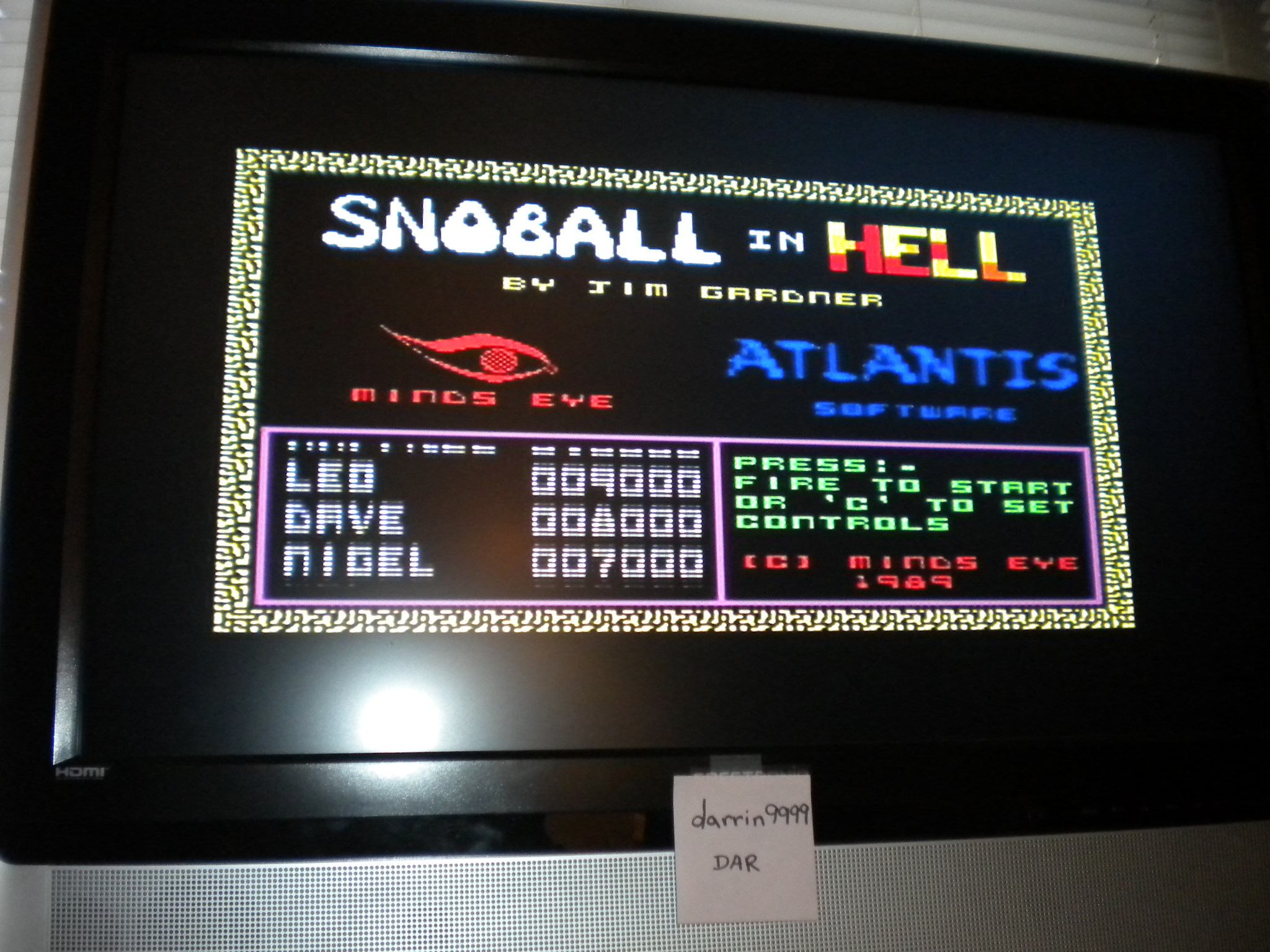 Snoball in Hell 2,470 points