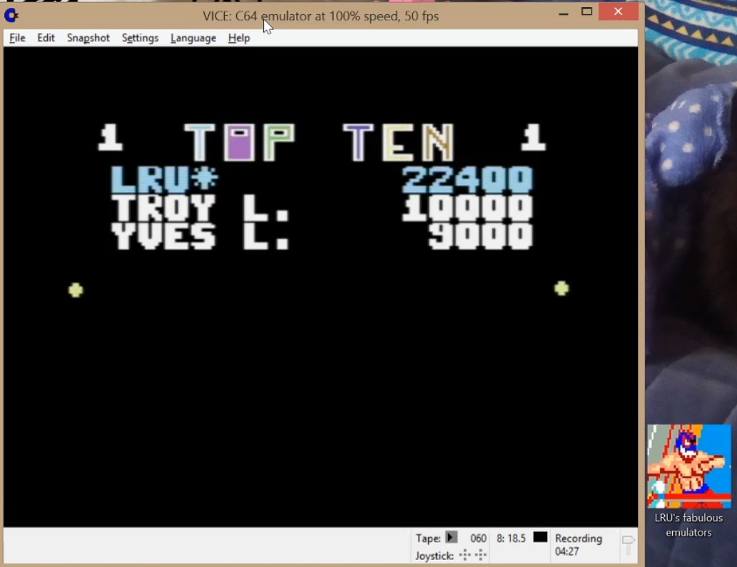 LuigiRuffolo: Snokie (Commodore 64 Emulated) 22,400 points on 2020-05-31 10:17:49
