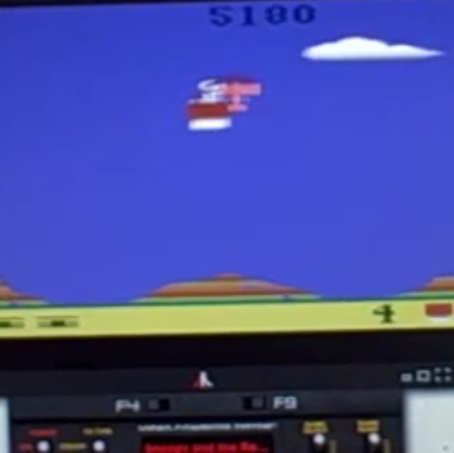 zerooskul: Snoopy and the Red Baron (Atari 2600 Emulated Expert/A Mode) 5,180 points on 2019-12-22 16:53:04