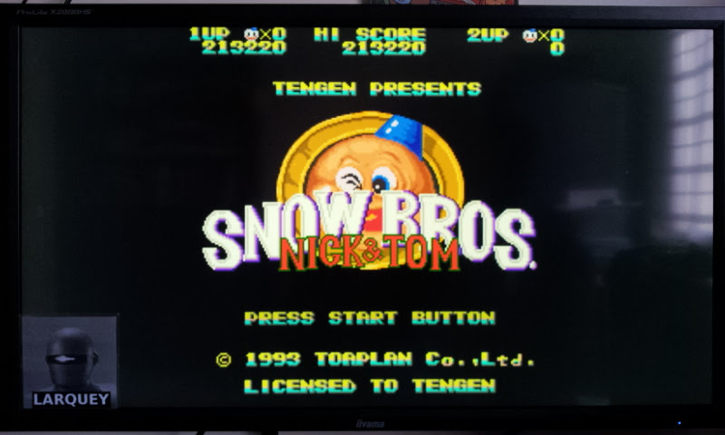 Larquey: Snow Bros. [Hard] (Sega Genesis / MegaDrive Emulated) 213,220 points on 2017-11-25 05:50:18