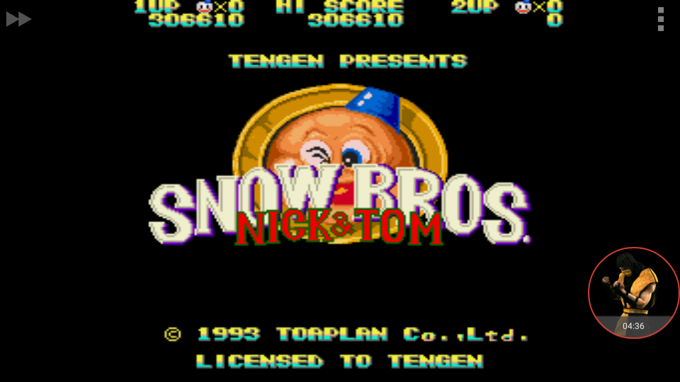 omargeddon: Snow Bros. [Hard] (Sega Genesis / MegaDrive Emulated) 306,610 points on 2017-11-26 12:59:01