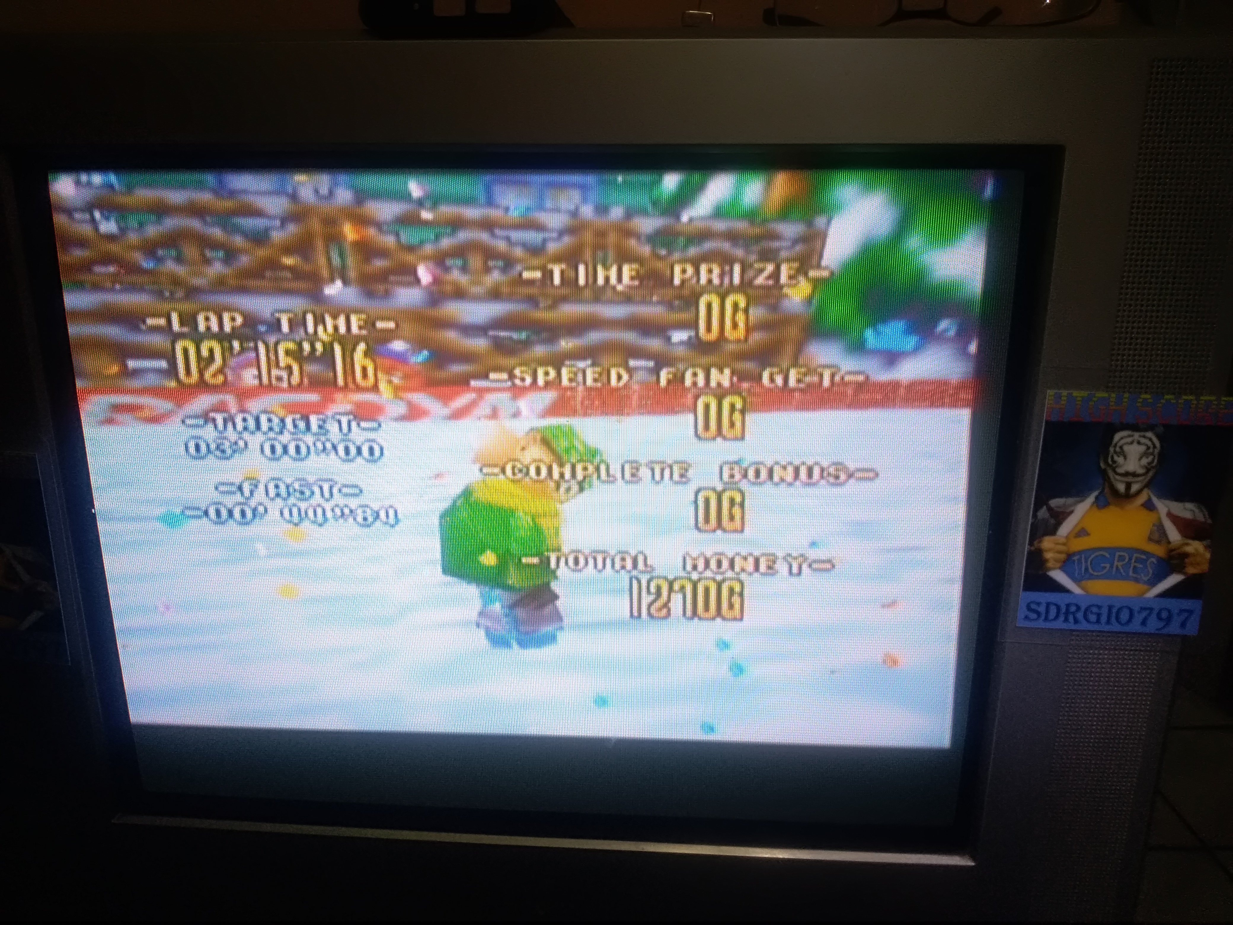 Sdrgio797: Snowboard Kids: Speed Game [Big Snowman/Fastest Lap] (N64 Emulated) 0:02:15.16 points on 2020-08-09 15:34:18