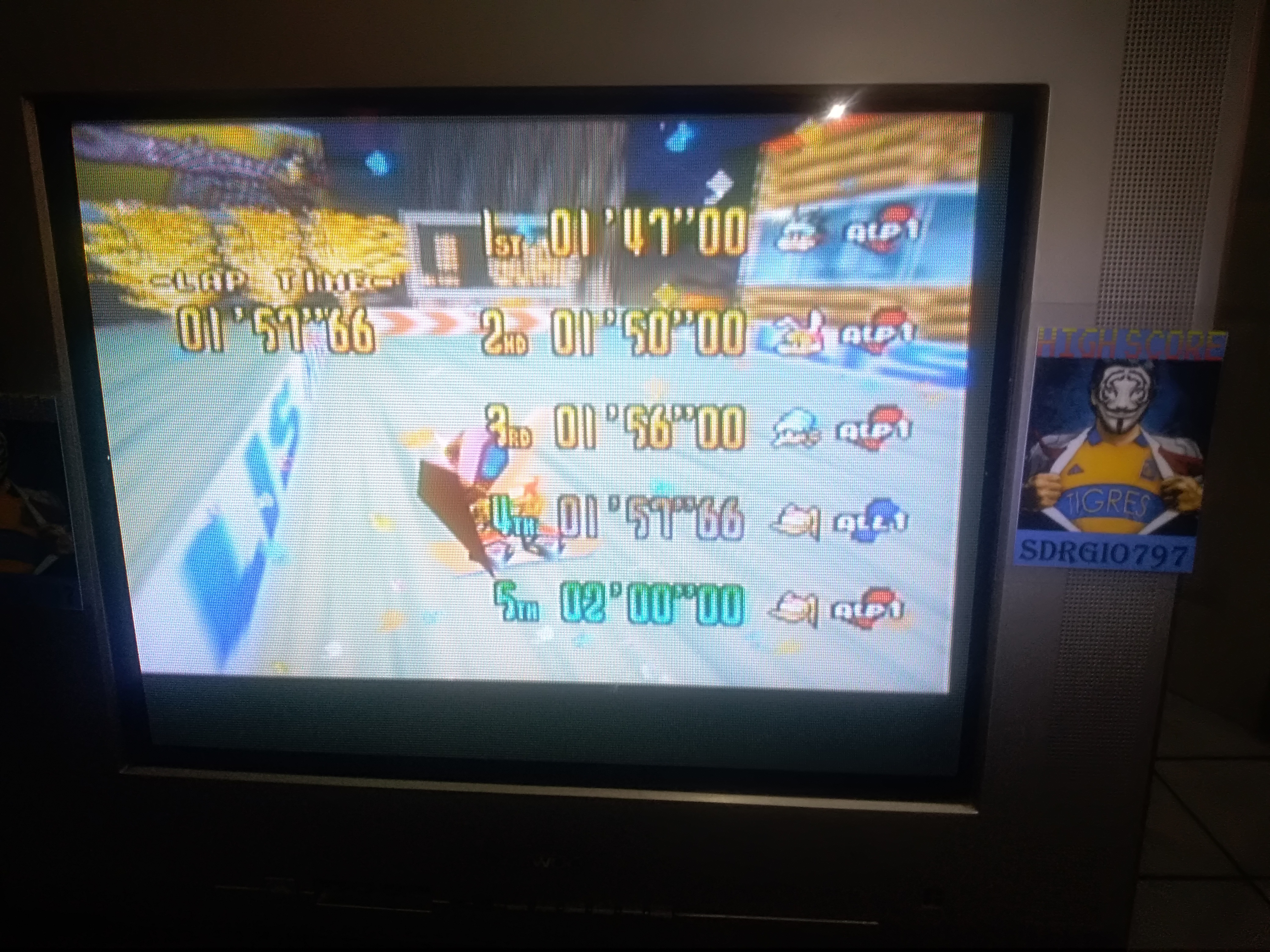 Sdrgio797: Snowboard Kids: Time Attack [Night Highway/Fastest Lap] (N64 Emulated) 0:01:57.66 points on 2020-08-09 18:06:07