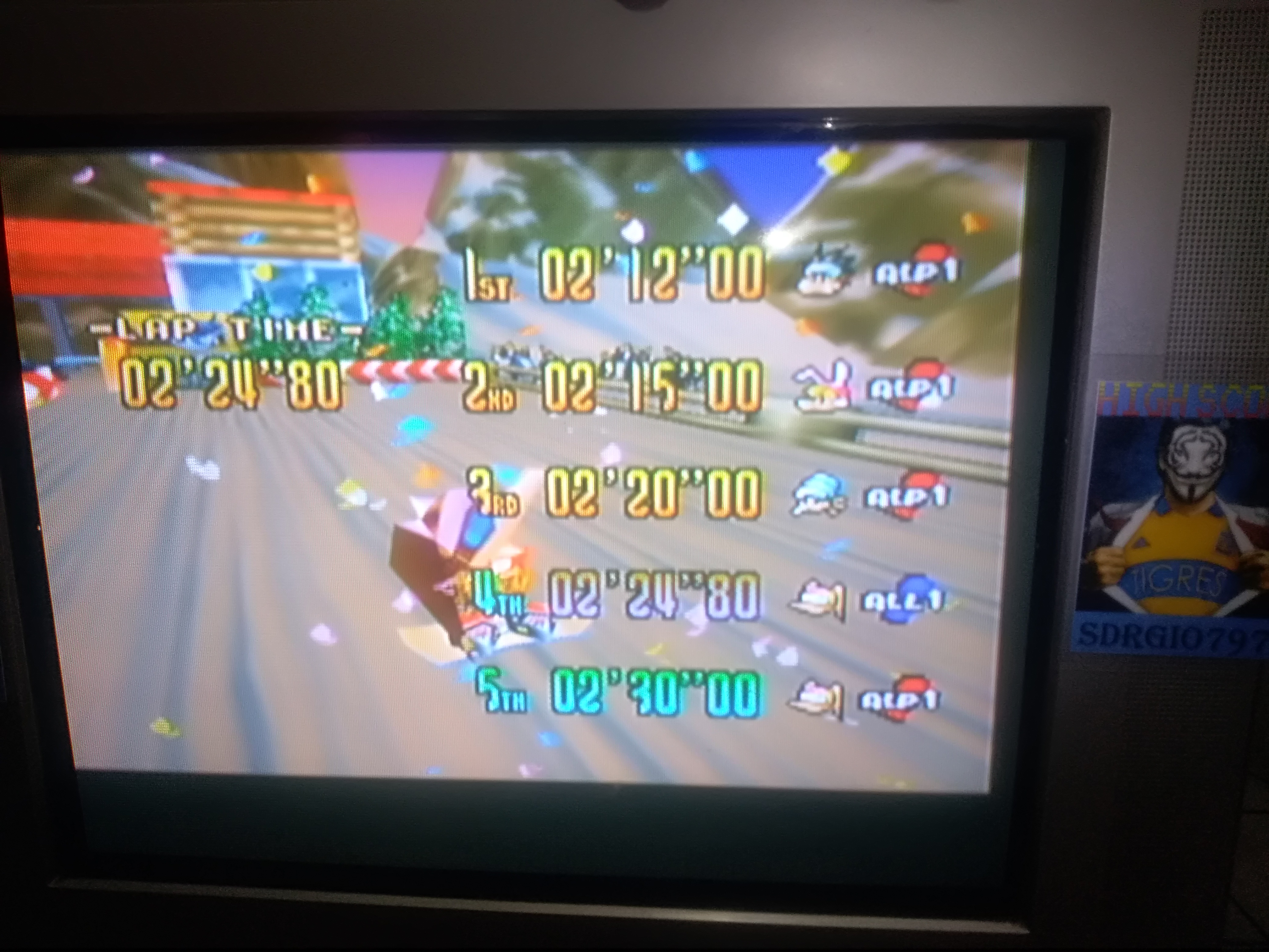 Sdrgio797: Snowboard Kids: Time Attack [Sunset Rock/Fastest Lap] (N64 Emulated) 0:02:24.8 points on 2020-08-09 18:05:03