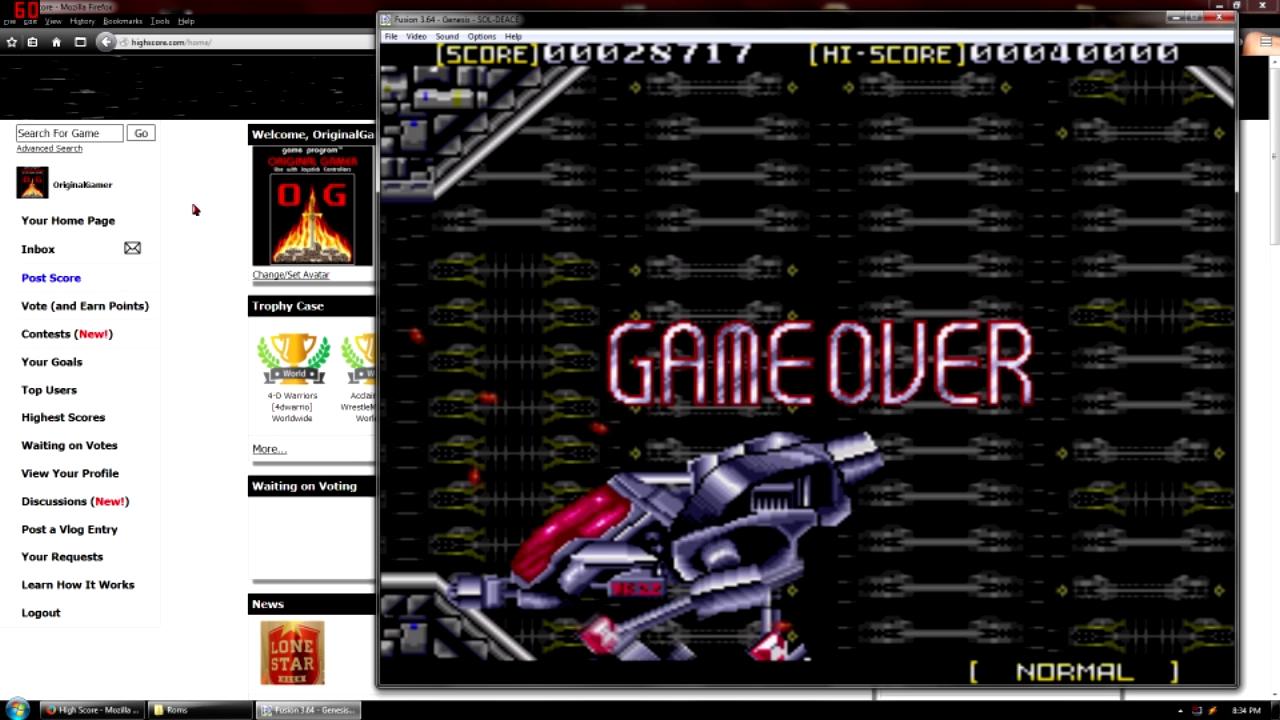 OriginalGamer: Sol Deace [Normal/Middle] (Sega Genesis / MegaDrive Emulated) 28,717 points on 2015-09-07 23:07:57