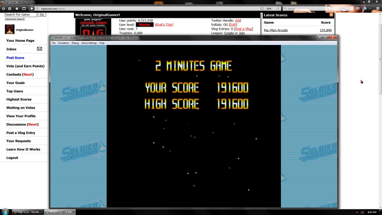 OriginalGamer: Soldier Collection: Super Star Soldier [2 Minute] (PSP Emulated) 191,600 points on 2018-02-03 23:06:47