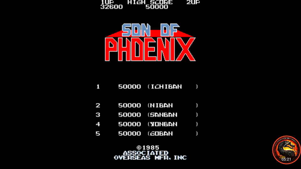 omargeddon: Son Of Phoenix (Arcade Emulated / M.A.M.E.) 32,600 points on 2020-02-17 09:27:20