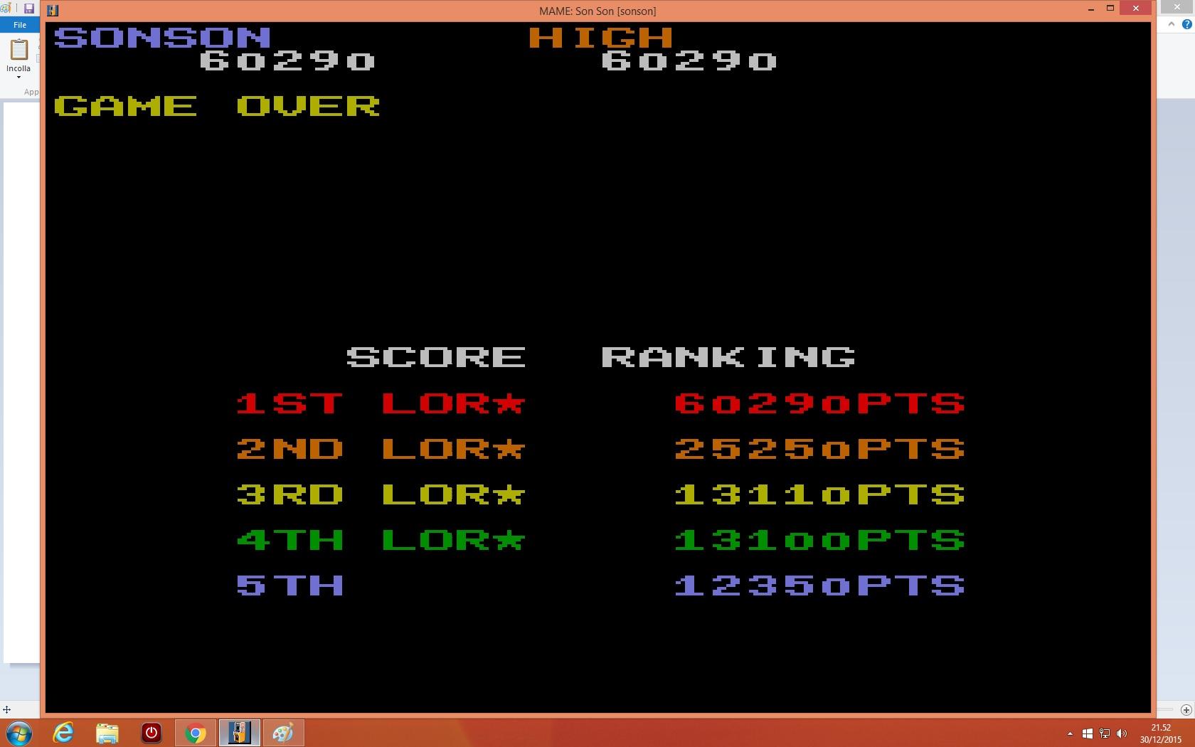 lenny2571: SonSon [sonson] (Arcade Emulated / M.A.M.E.) 60,290 points on 2015-12-30 14:52:46