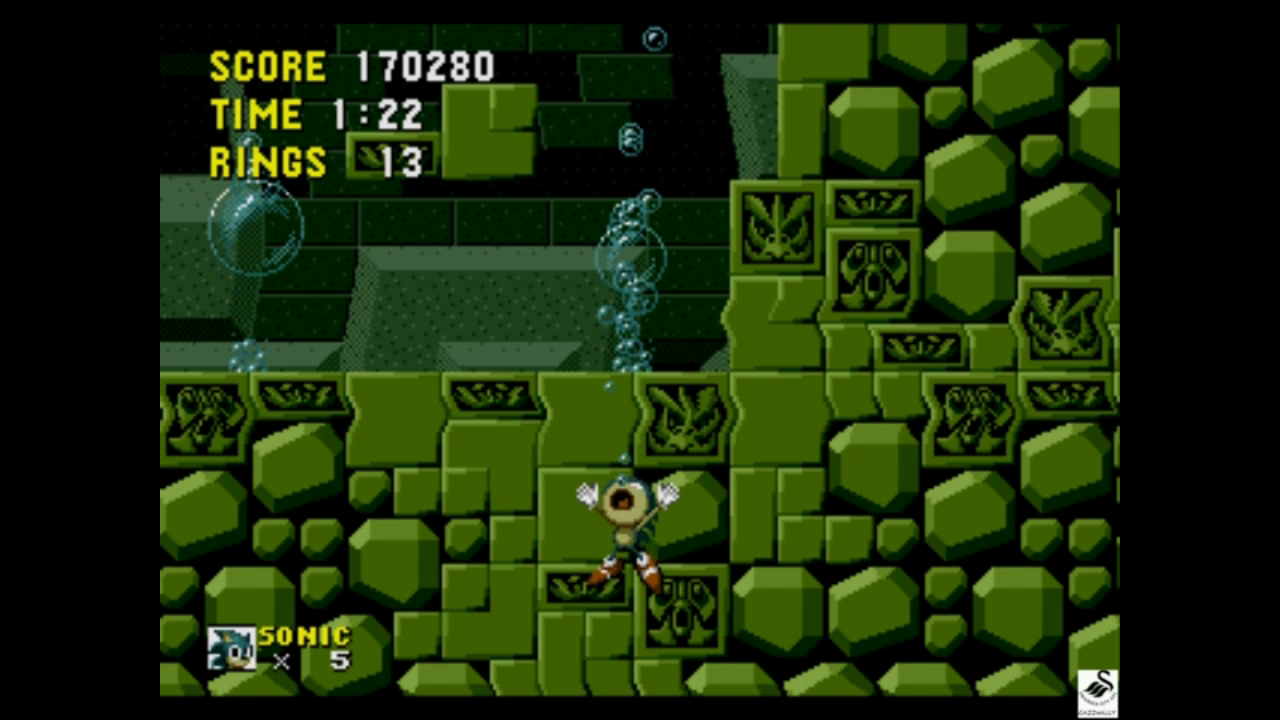 gazzhally: Sonic The Hedgehog [One Life Only] (Sega Genesis / MegaDrive Emulated) 170,280 points on 2018-11-18 06:54:19