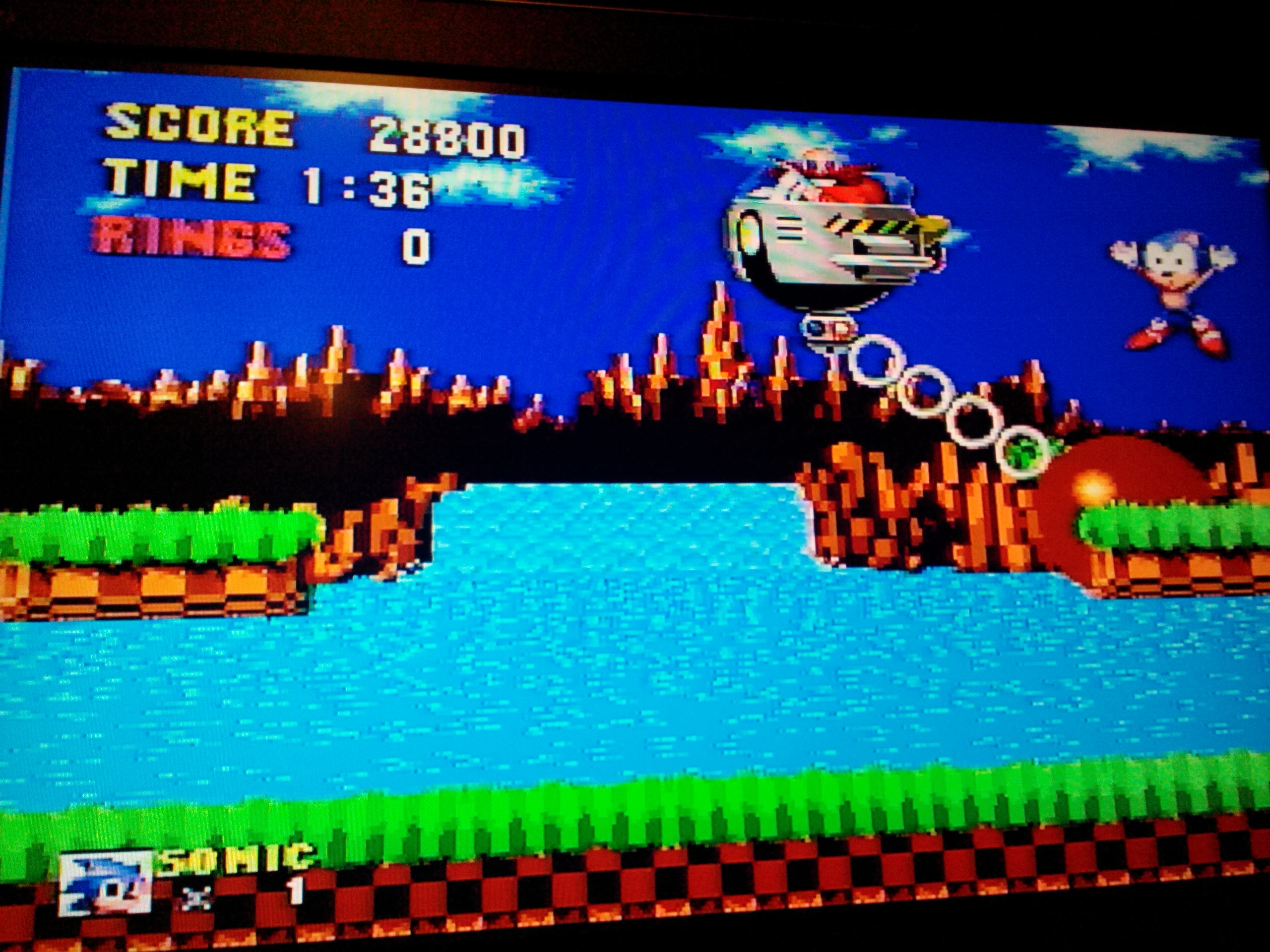 Sonic the Hedgehog 28,500 points
