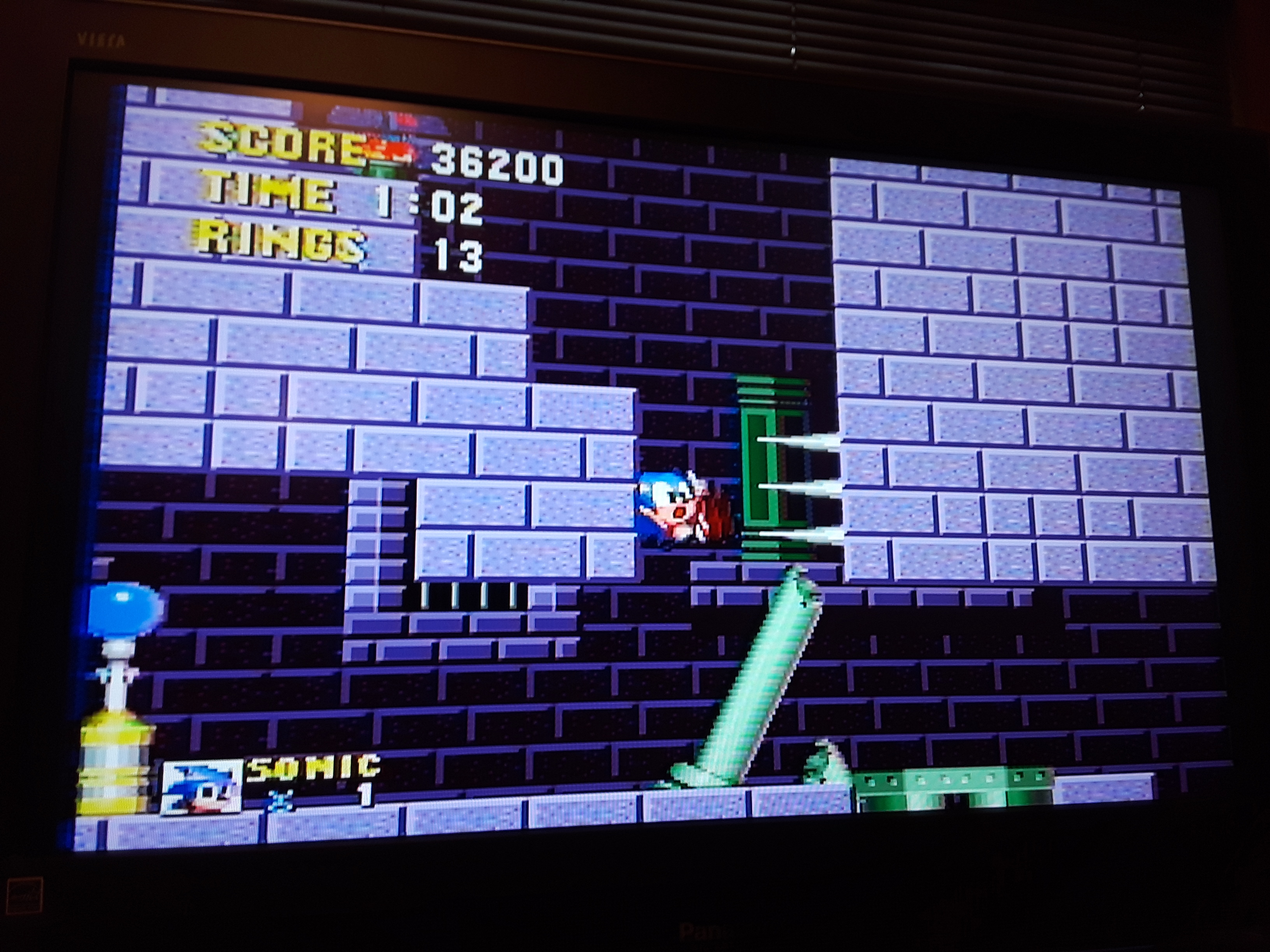 Sonic the Hedgehog 36,200 points