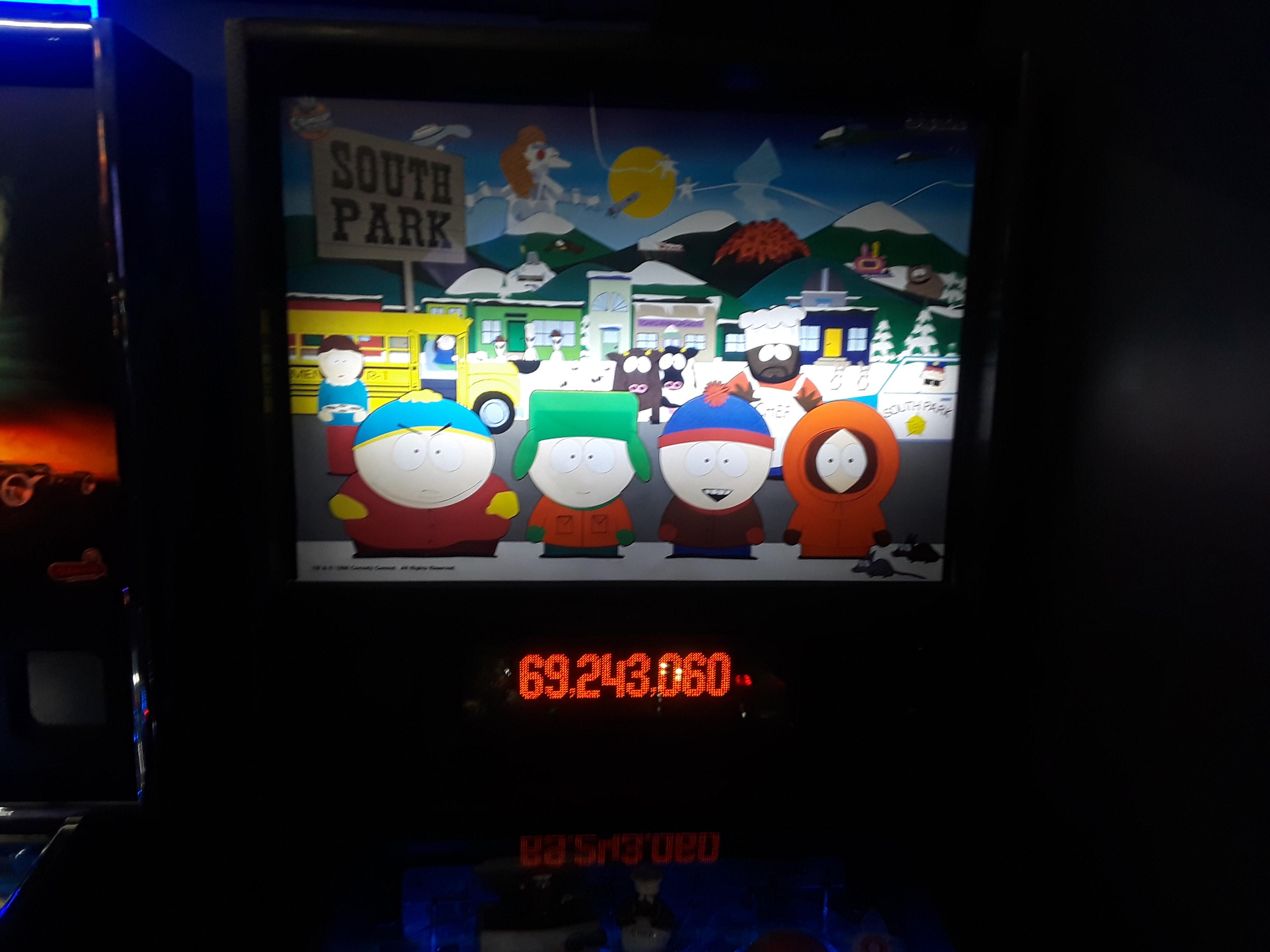 South Park 69,243,060 points