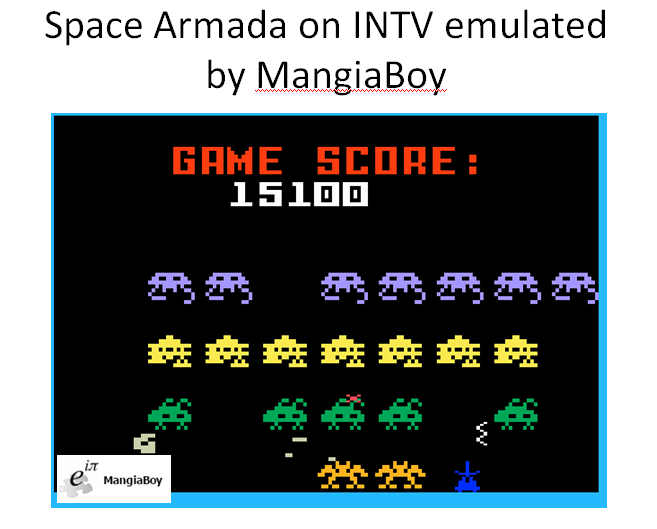 MangiaBoy: Space Armada (Intellivision Emulated) 15,100 points on 2016-02-09 17:46:15