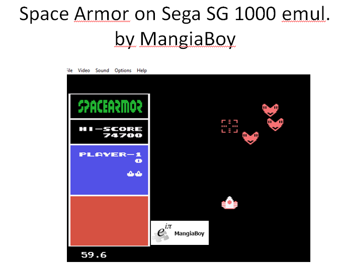 MangiaBoy: Space Armor (Sega SG-1000 Emulated) 74,700 points on 2016-01-04 13:51:08
