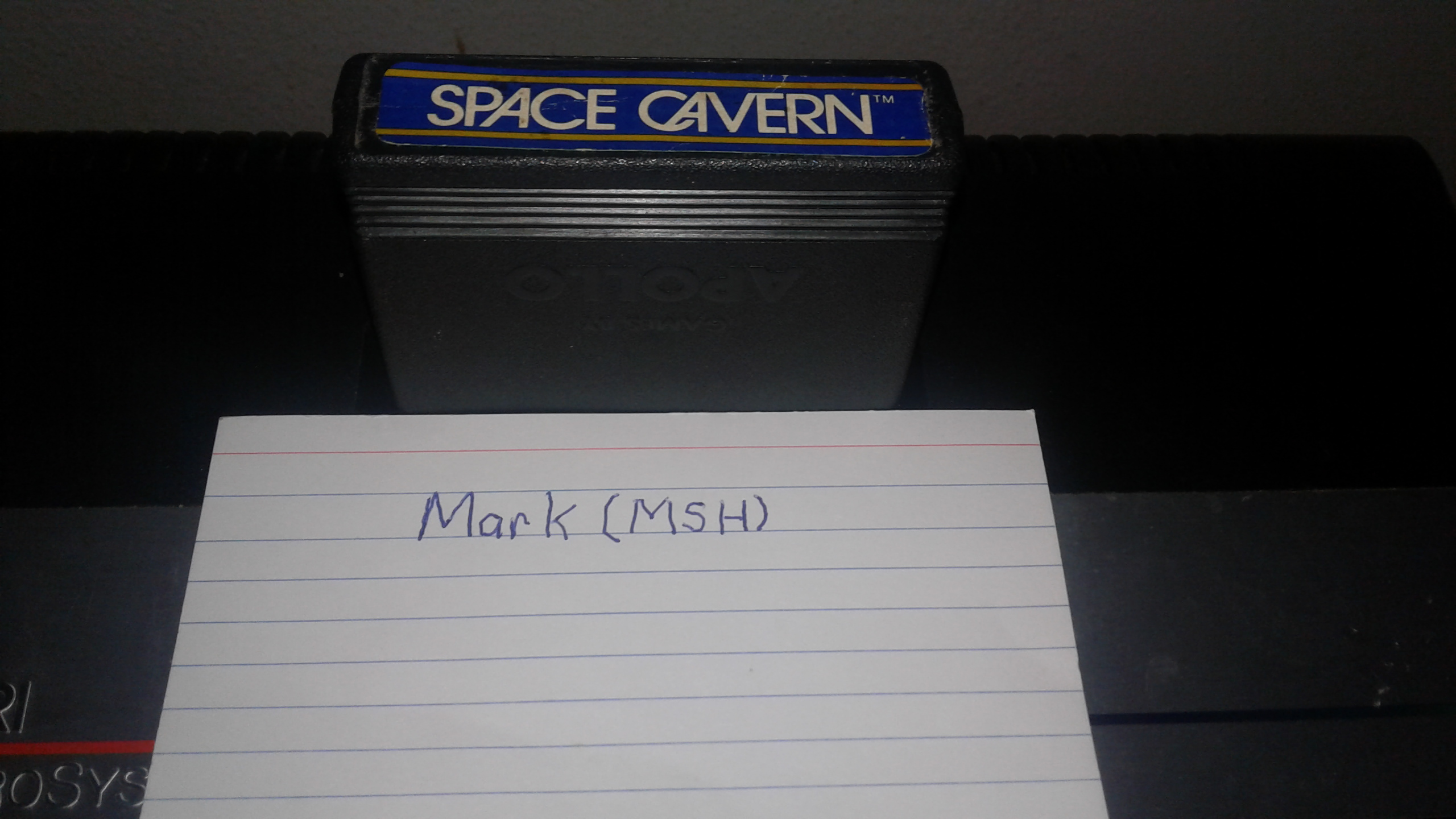 Mark: Space Cavern (Atari 2600 Expert/A) 5,965 points on 2019-02-24 01:59:19