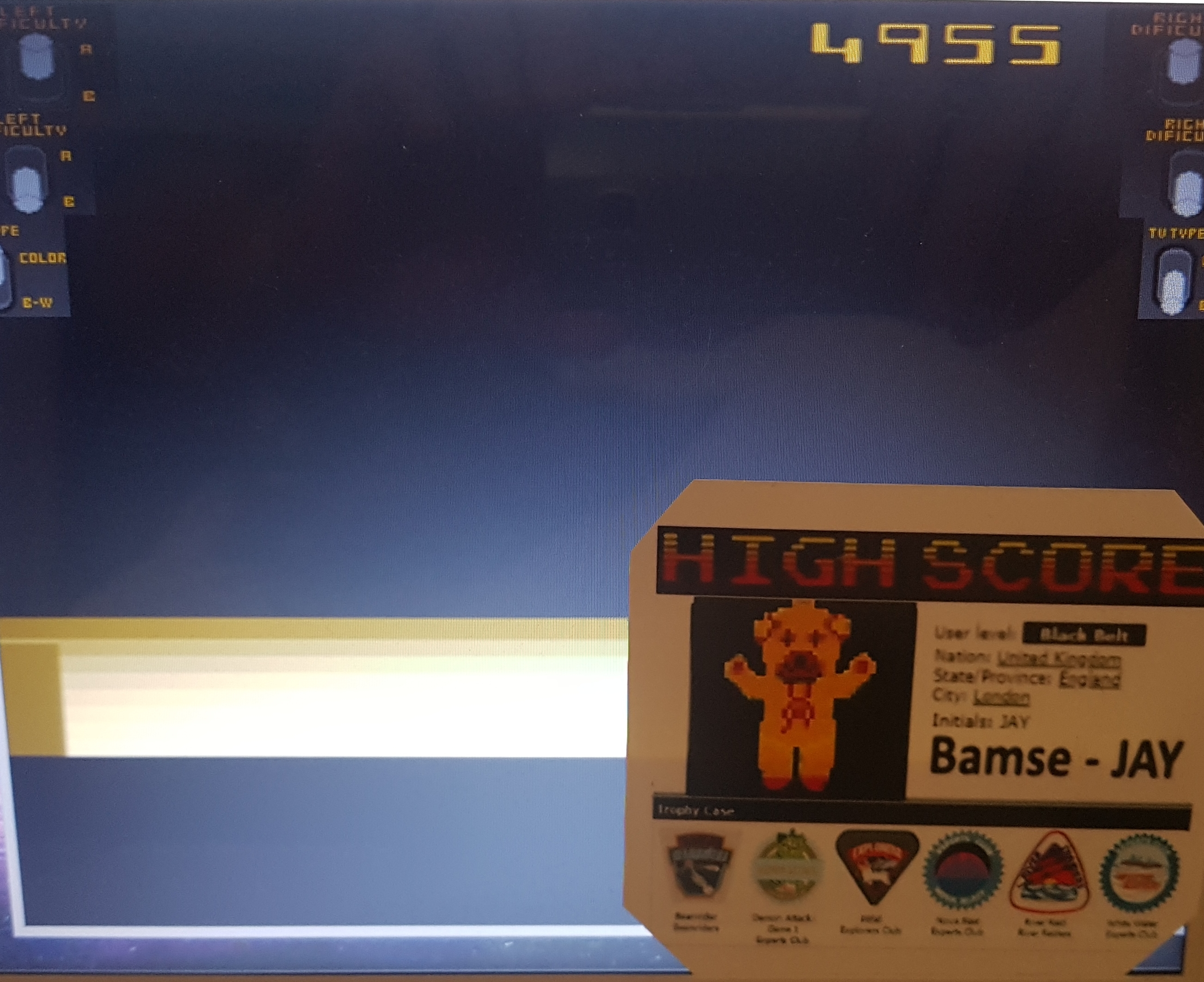 Bamse: Space Cavern (Atari 2600 Emulated Expert/A Mode) 4,955 points on 2019-10-30 13:49:00