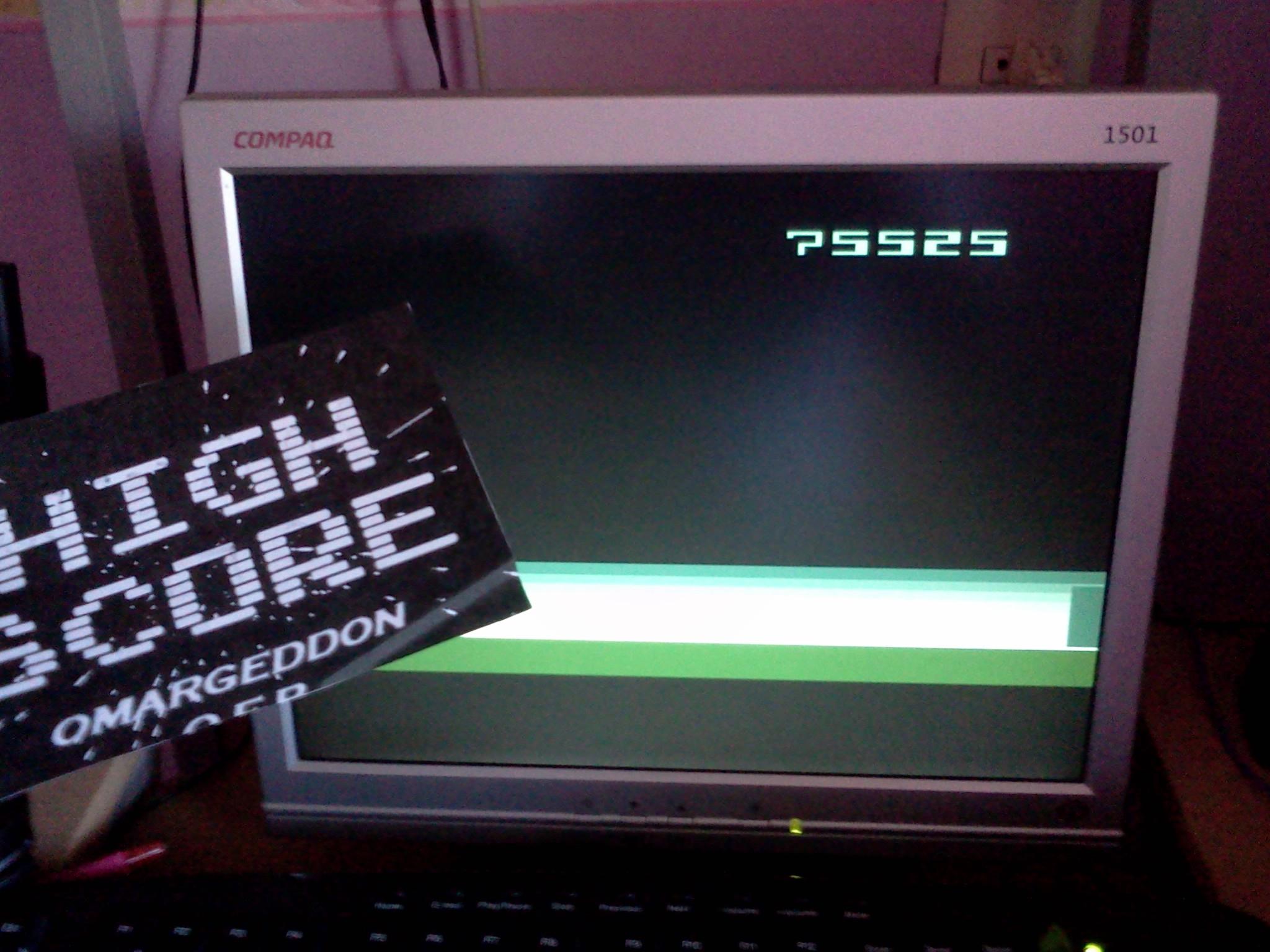 omargeddon: Space Cavern (Atari 2600 Emulated Novice/B Mode) 75,525 points on 2016-08-27 10:10:49