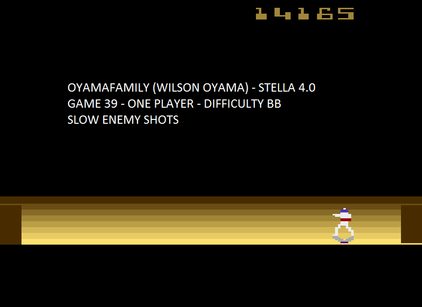 oyamafamily: Space Cavern: Game 39 (Atari 2600 Emulated Novice/B Mode) 14,165 points on 2015-08-08 10:40:16