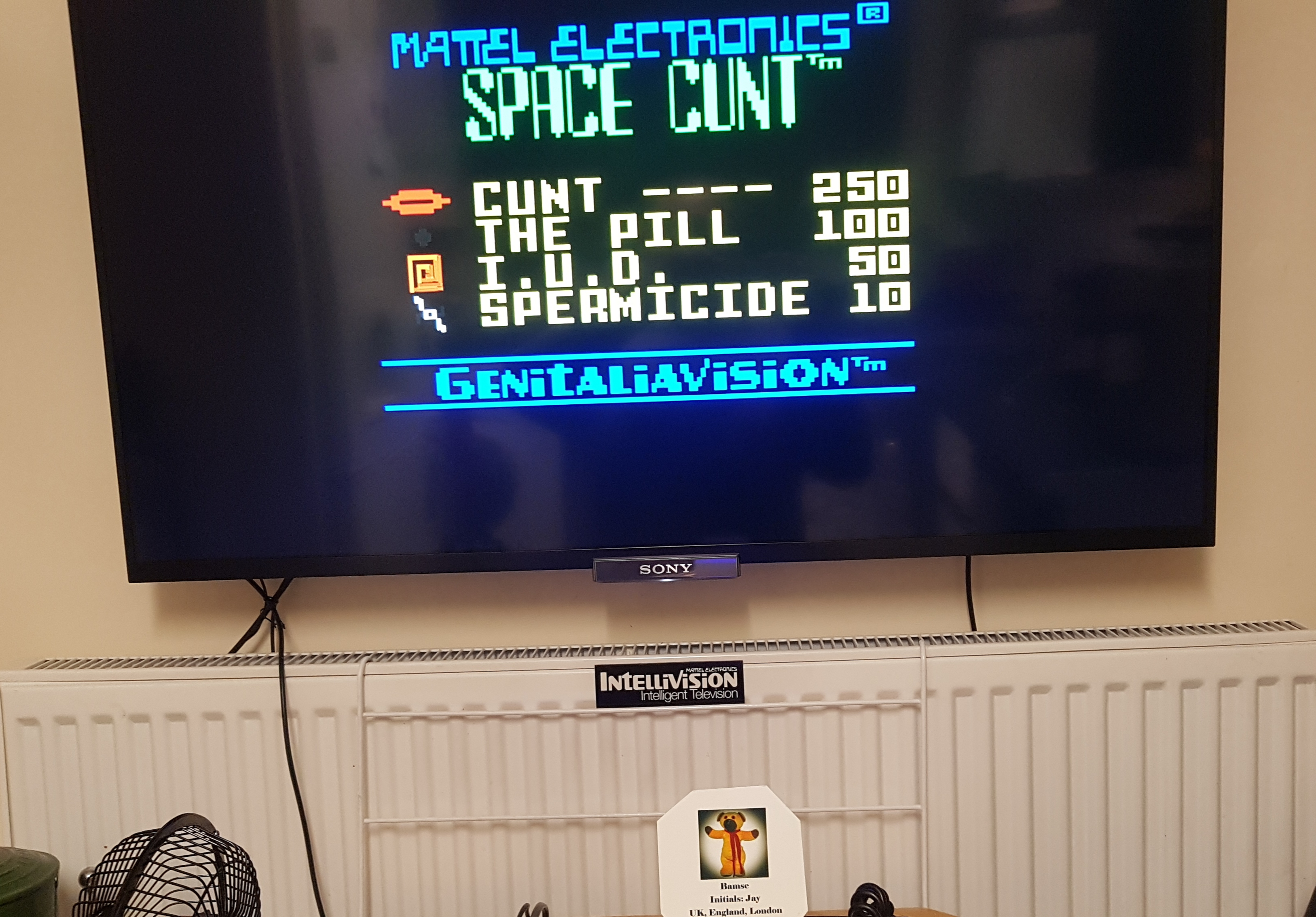 Bamse: Space Cunt [Peak Score] (Intellivision) 116,150 points on 2019-03-10 14:32:07