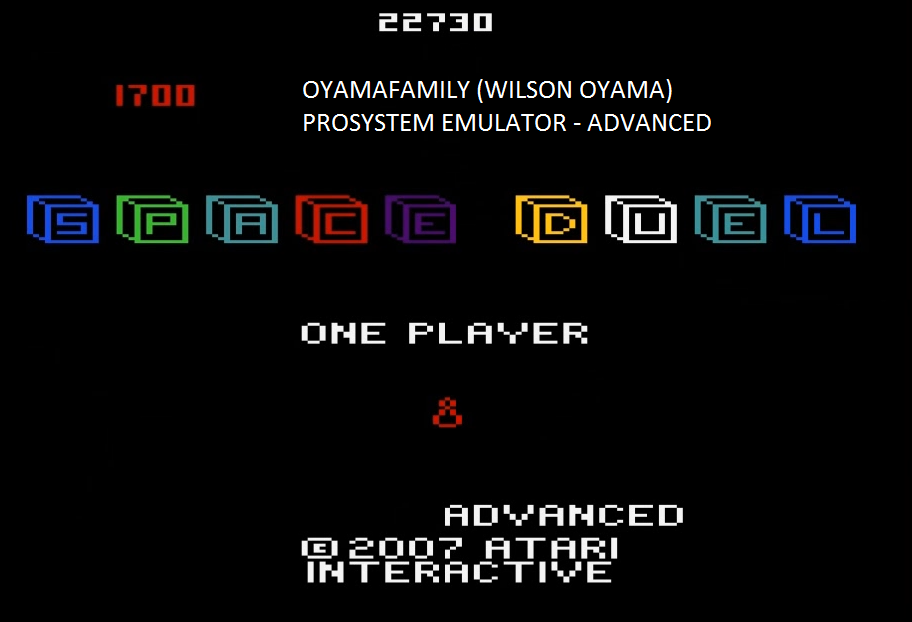 oyamafamily: Space Duel: 1P Advanced (Atari 7800 Emulated) 32,260 points on 2016-02-24 18:32:29