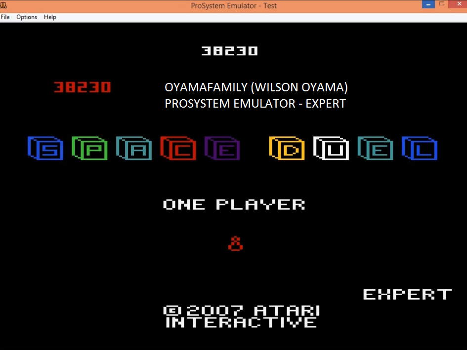 oyamafamily: Space Duel: 1P Expert (Atari 7800 Emulated) 38,230 points on 2016-02-24 18:33:20