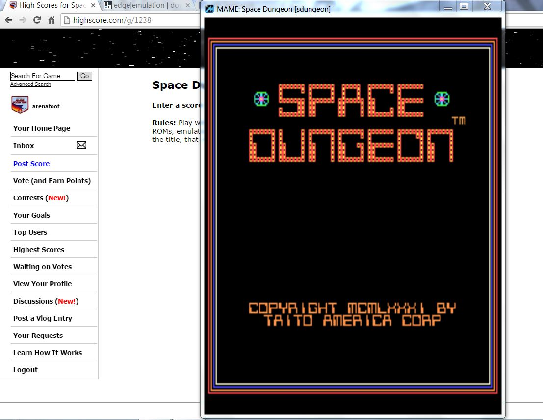 arenafoot: Space Dungeon (Arcade Emulated / M.A.M.E.) 2,270 points on 2016-04-25 07:25:42