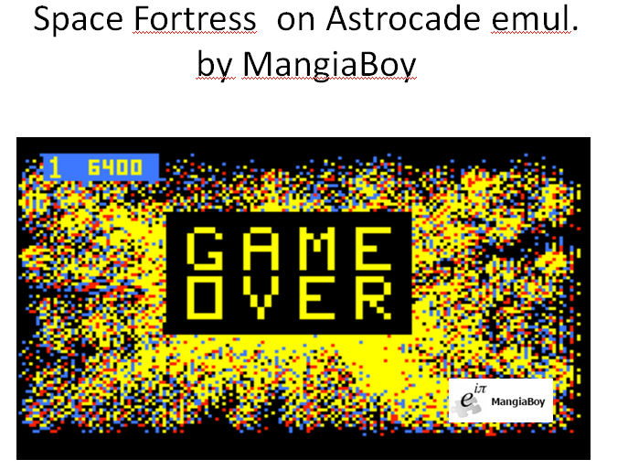 MangiaBoy: Space Fortress (Astrocade Emulated) 6,400 points on 2016-01-09 20:41:26