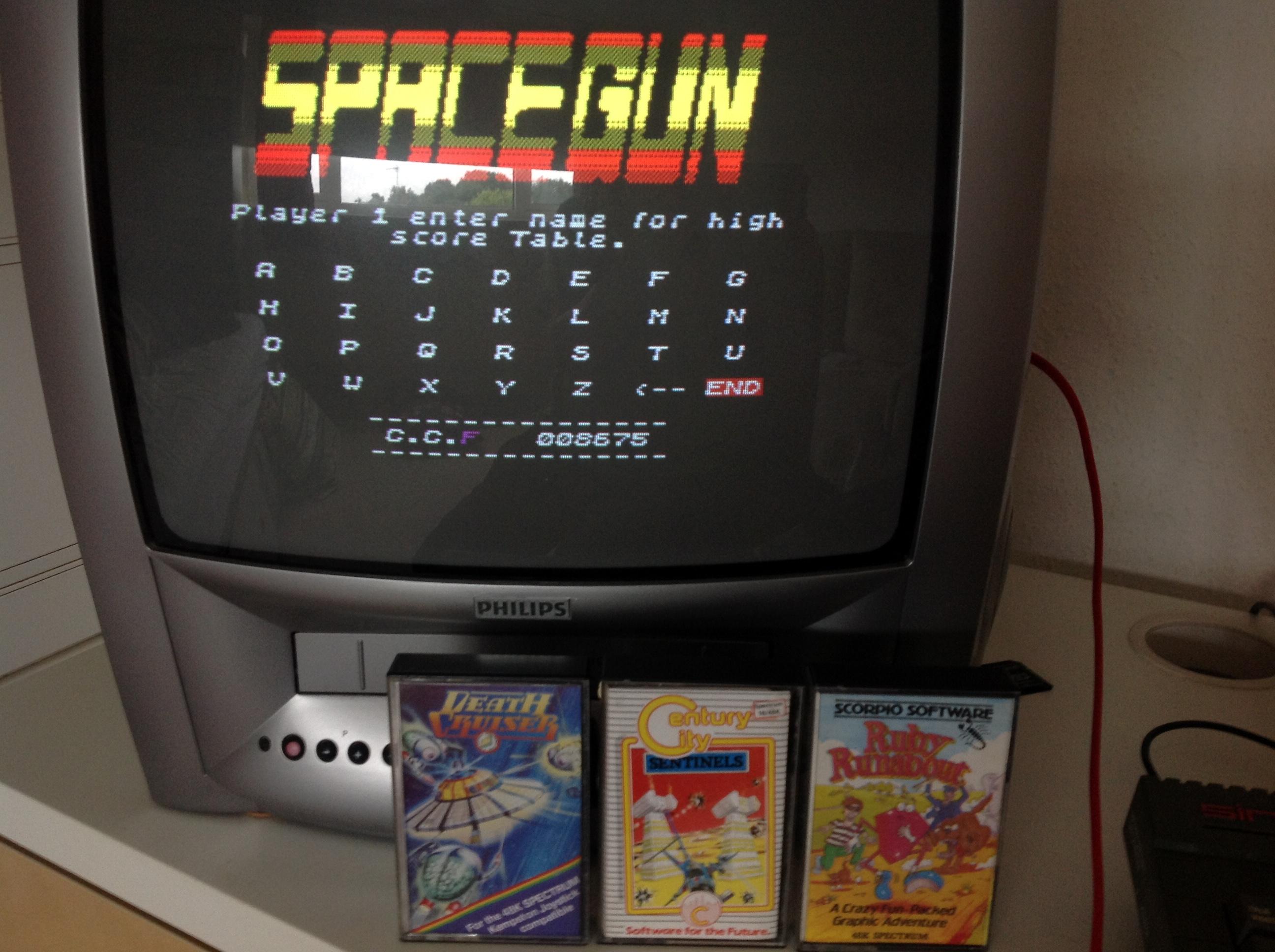 CoCoForest: Space Gun (ZX Spectrum) 8,675 points on 2020-07-07 12:19:30