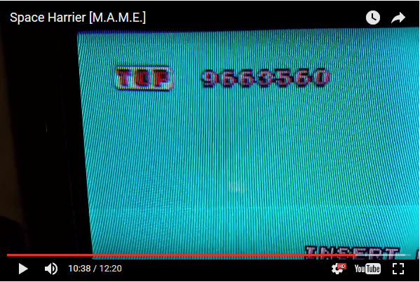 JES: Space Harrier (Arcade Emulated / M.A.M.E.) 9,663,560 points on 2017-02-13 11:18:30