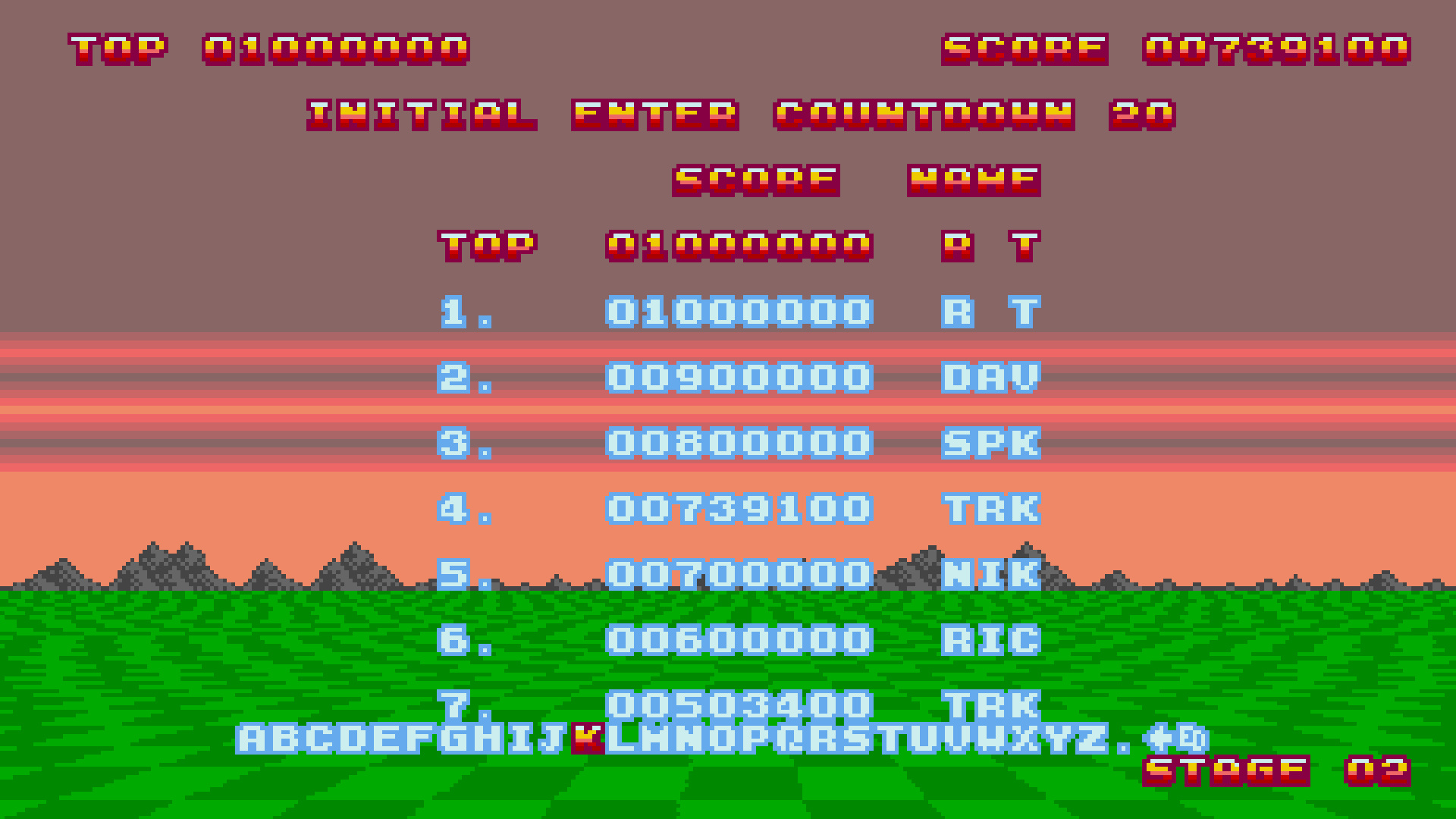 TheTrickster: Space Harrier II (Amiga Emulated) 739,100 points on 2015-08-28 21:37:59