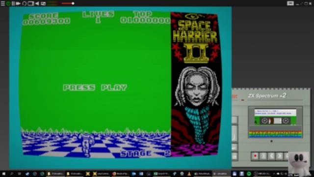 GTibel: Space Harrier II (ZX Spectrum Emulated) 609,300 points on 2019-01-07 09:32:25