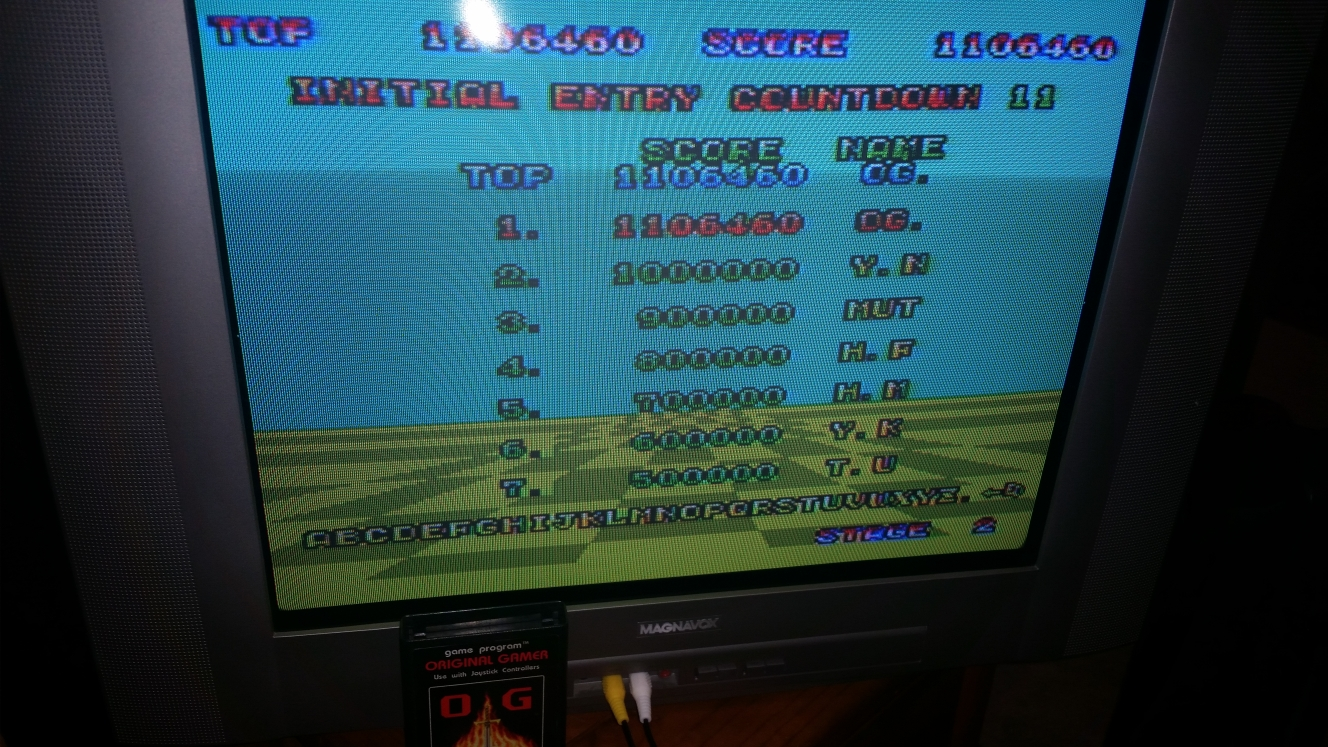 OriginalGamer: Space Harrier (Sega Master System) 1,106,460 points on 2016-04-30 15:16:03