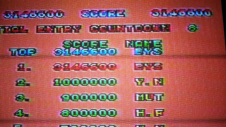 Space Harrier 3,146,600 points
