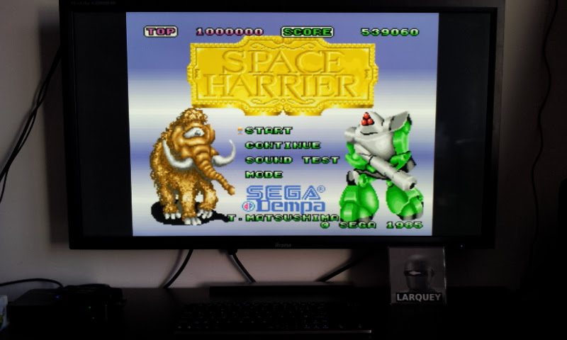Larquey: Space Harrier (Sharp X68000 Emulated) 539,060 points on 2018-02-22 08:09:12