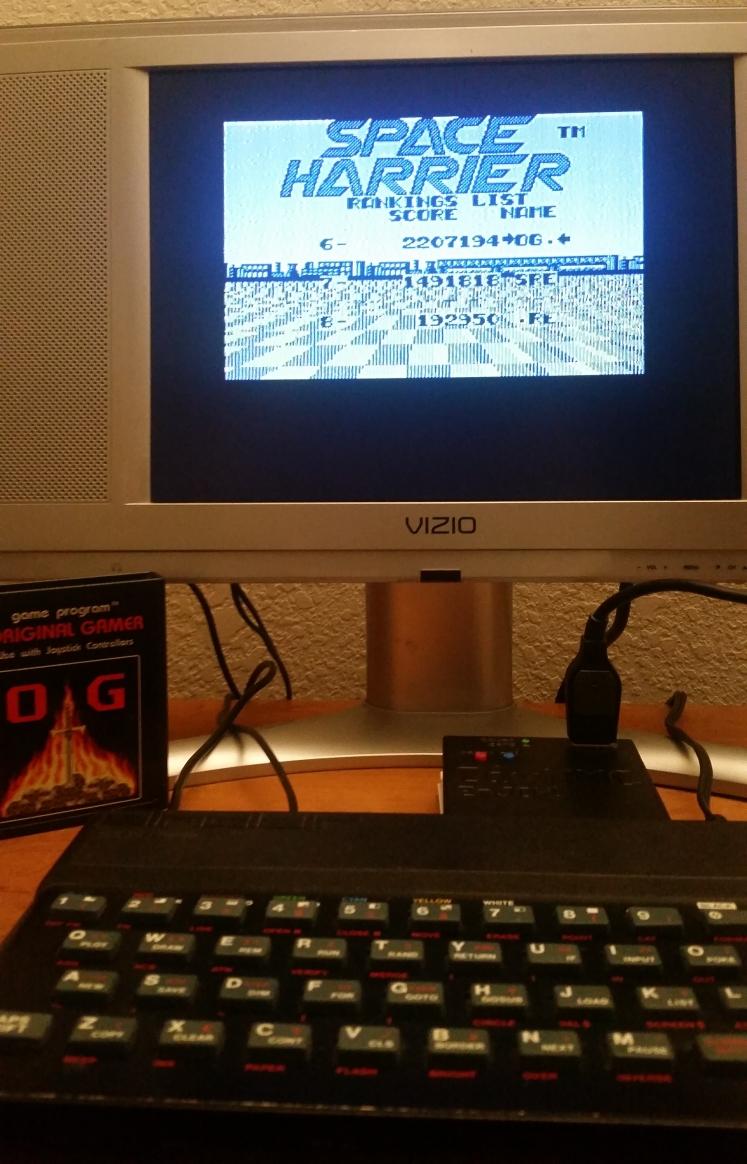 OriginalGamer: Space Harrier (ZX Spectrum) 2,207,194 points on 2017-12-17 00:54:32