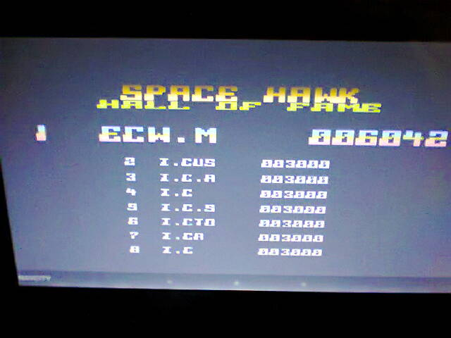 ecworiginal: Space Hawk (Atari 400/800/XL/XE Emulated) 6,042 points on 2016-05-03 15:31:33