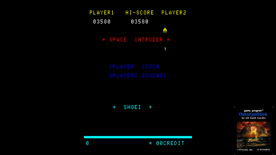 omargeddon: Space Intruder [spaceint] (Arcade Emulated / M.A.M.E.) 3,580 points on 2017-11-04 01:58:23