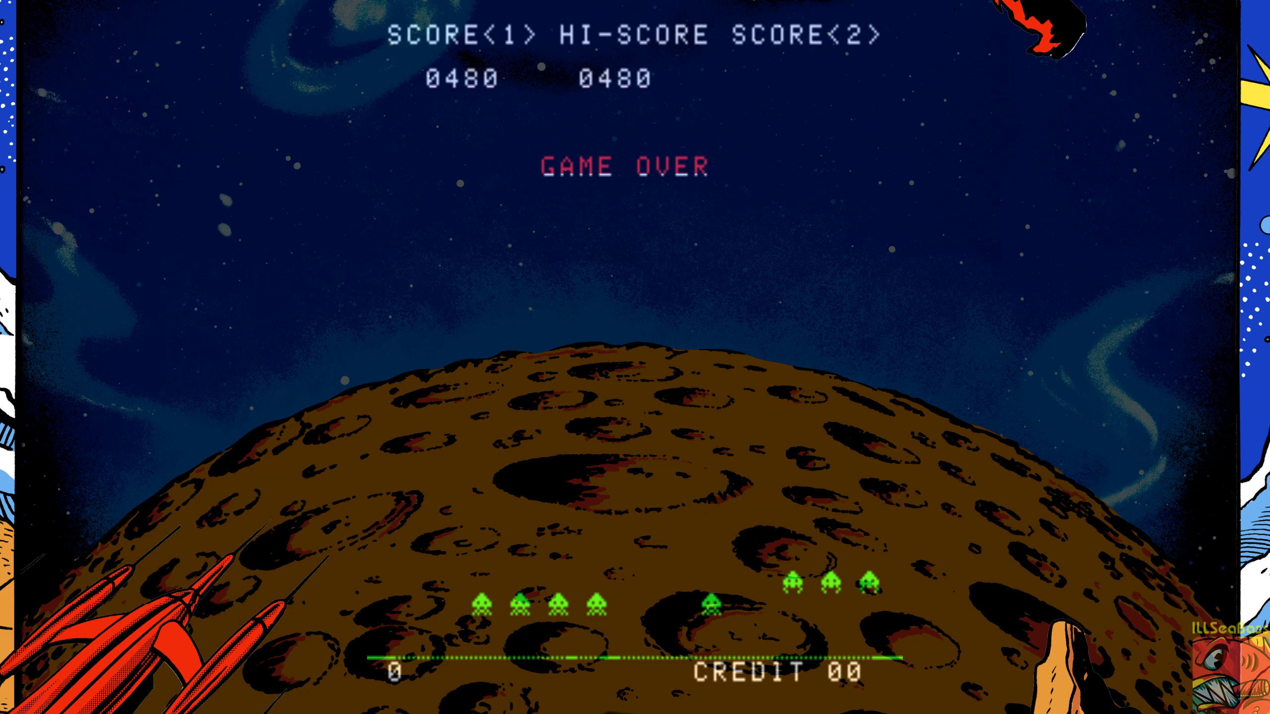 ILLSeaBass: Space Invaders (Arcade Emulated / M.A.M.E.) 10,480 points on 2019-07-14 13:50:10
