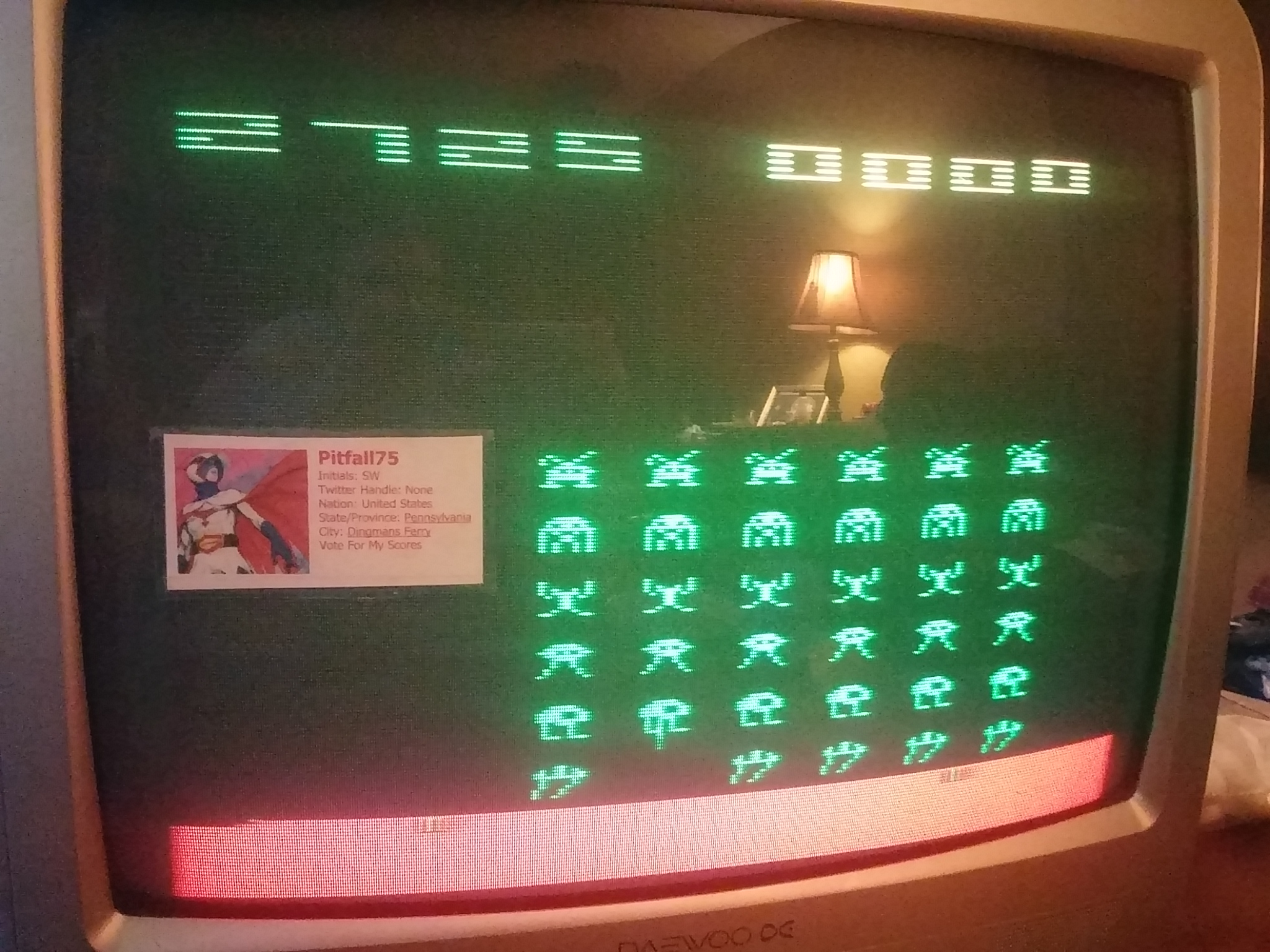 Space Invaders 2,725 points