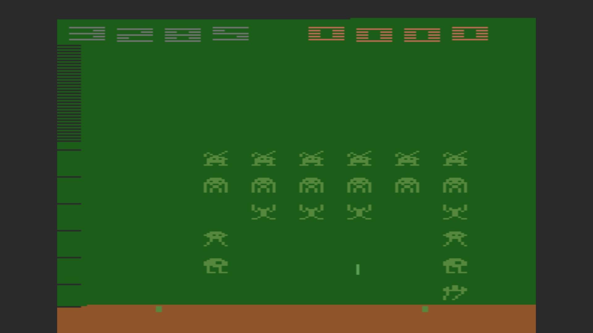 AkinNahtanoj: Space Invaders (Atari 2600 Emulated Novice/B Mode) 3,285 points on 2020-10-14 07:03:53