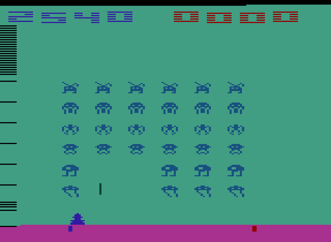 TheTrickster: Space Invaders (Atari 2600 Emulated Novice/B Mode) 12,540 points on 2016-07-11 07:09:07