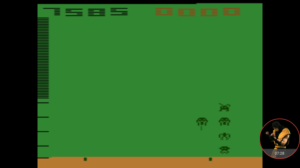 omargeddon: Space Invaders (Atari 2600 Emulated Novice/B Mode) 7,585 points on 2017-12-08 20:22:28
