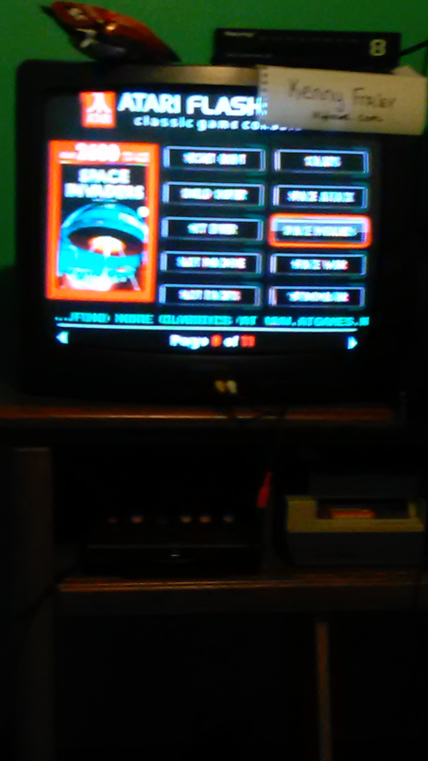 kennyfraley: Space Invaders (Atari Flashback 5) 8,614 points on 2017-03-24 01:08:57