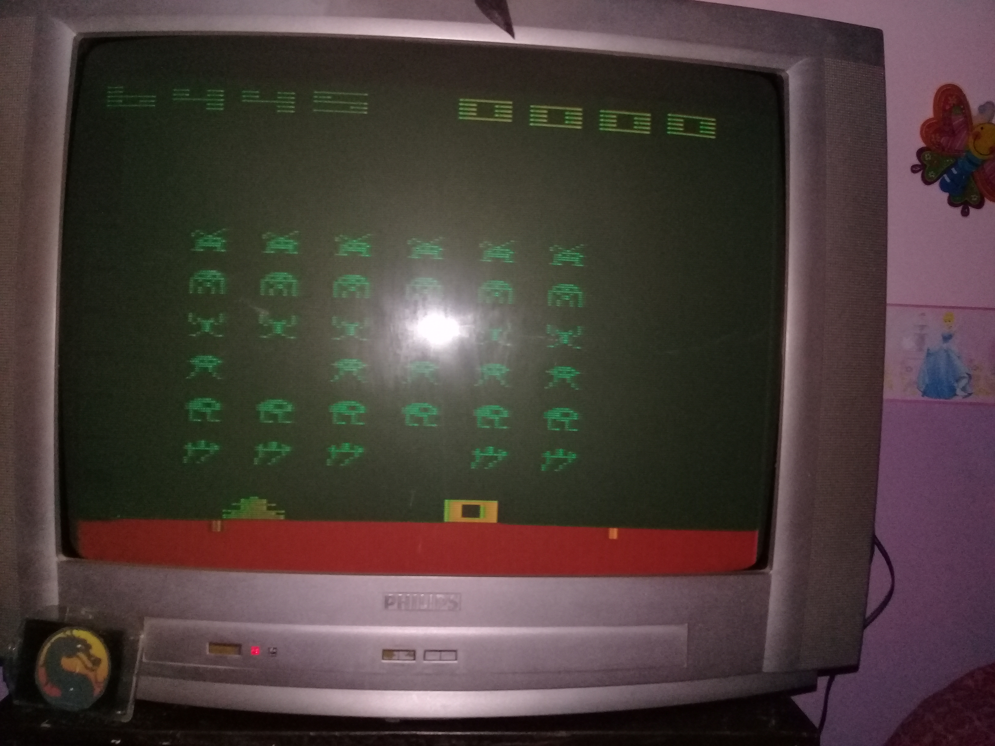 omargeddon: Space Invaders [Cart-Fry: Double Shots] (Atari 2600 Expert/A) 6,445 points on 2020-02-15 20:46:51