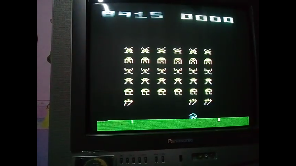 omargeddon: Space Invaders [Cart-Fry: Double Shots] (Atari 2600 Novice/B) 38,915 points on 2019-11-19 19:57:35