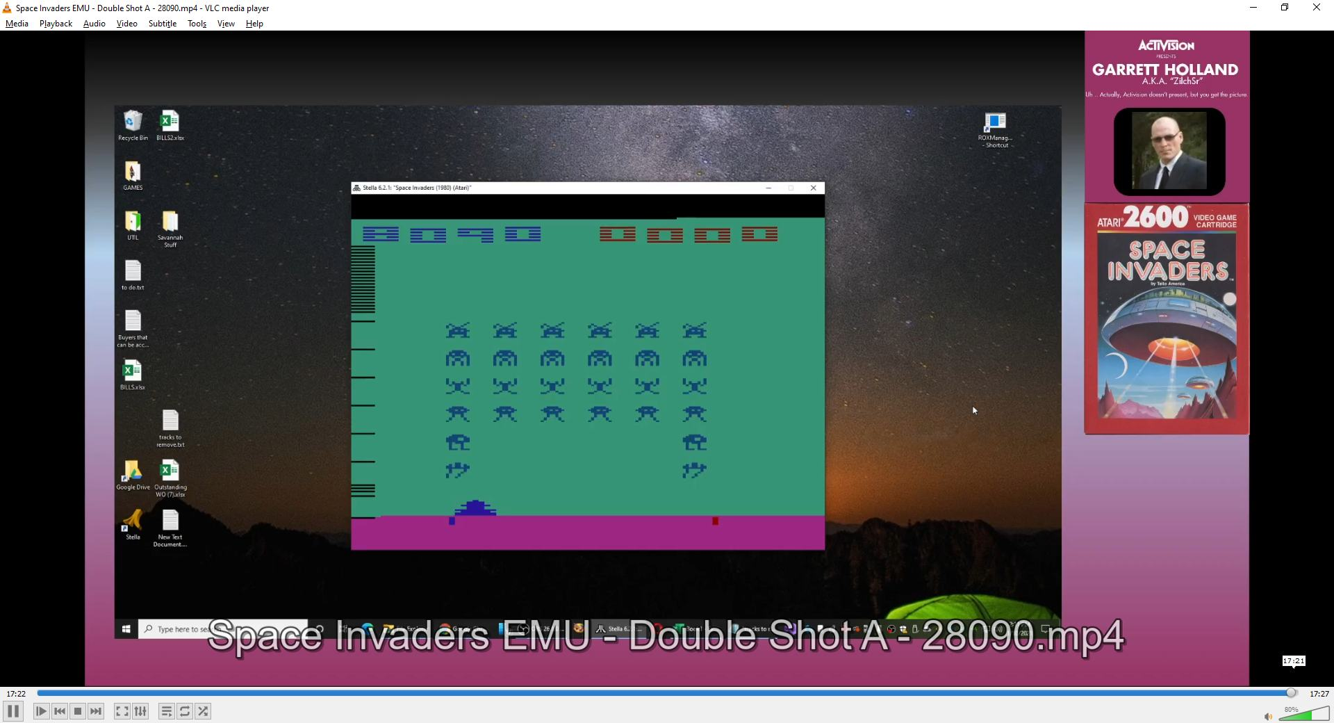 ZilchSr: Space Invaders [Cart-Fry: Double Shots] (Atari 2600 Emulated Expert/A Mode) 28,090 points on 2021-01-10 13:25:00