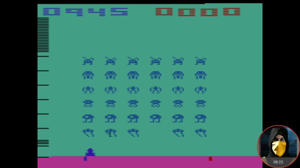 omargeddon: Space Invaders [Cart-Fry: Double Shots] (Atari 2600 Emulated Novice/B Mode) 10,945 points on 2018-01-22 13:17:46