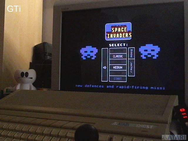 GTibel: Space Invaders [Classic/Medium] (Atari ST) 3,880 points on 2017-07-13 14:09:53