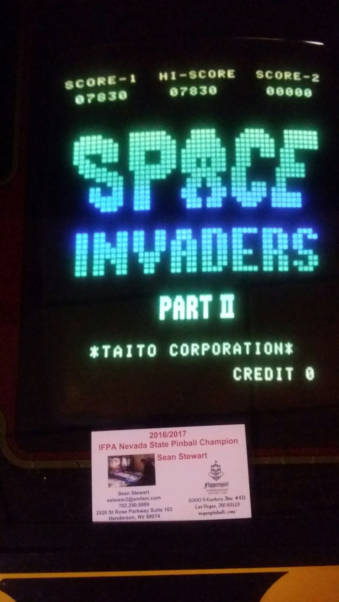 SeanStewart: Space Invaders Deluxe (Arcade) 7,830 points on 2017-05-09 14:01:14