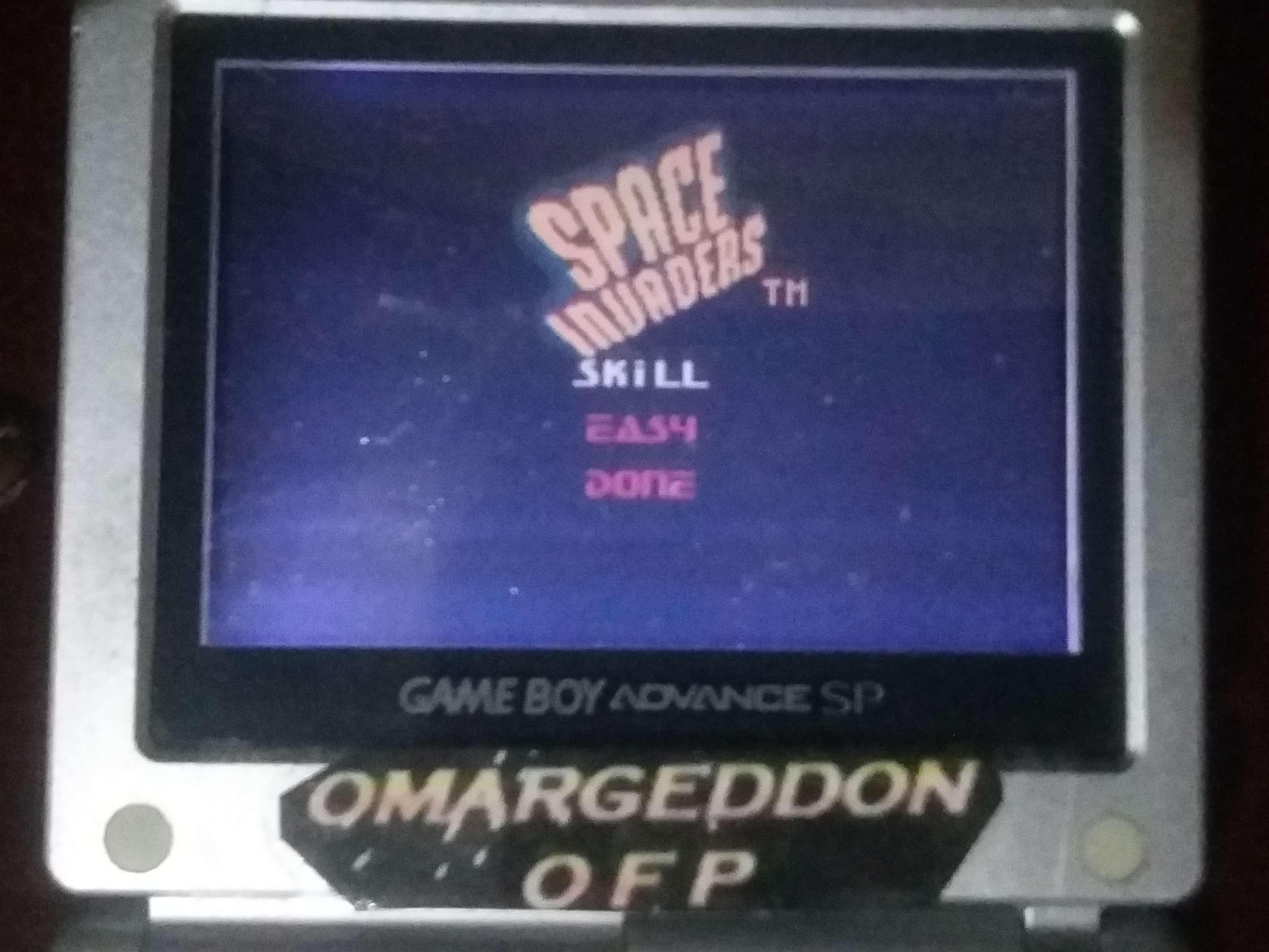 omargeddon: Space Invaders [Easy] (Game Boy Color) 6,863 points on 2018-02-28 19:36:09
